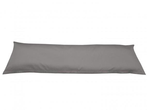 Bettwaesche-mit-Stil Mako-Satin / Baumwollsatin Seitenschläferkissen Bezug uni / einfarbig dunkelgrau