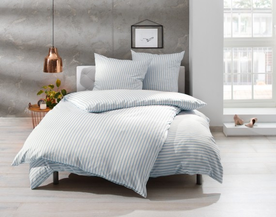 Bettwäsche Streifen Blau 100 Baumwolle Jetzt Entdecken