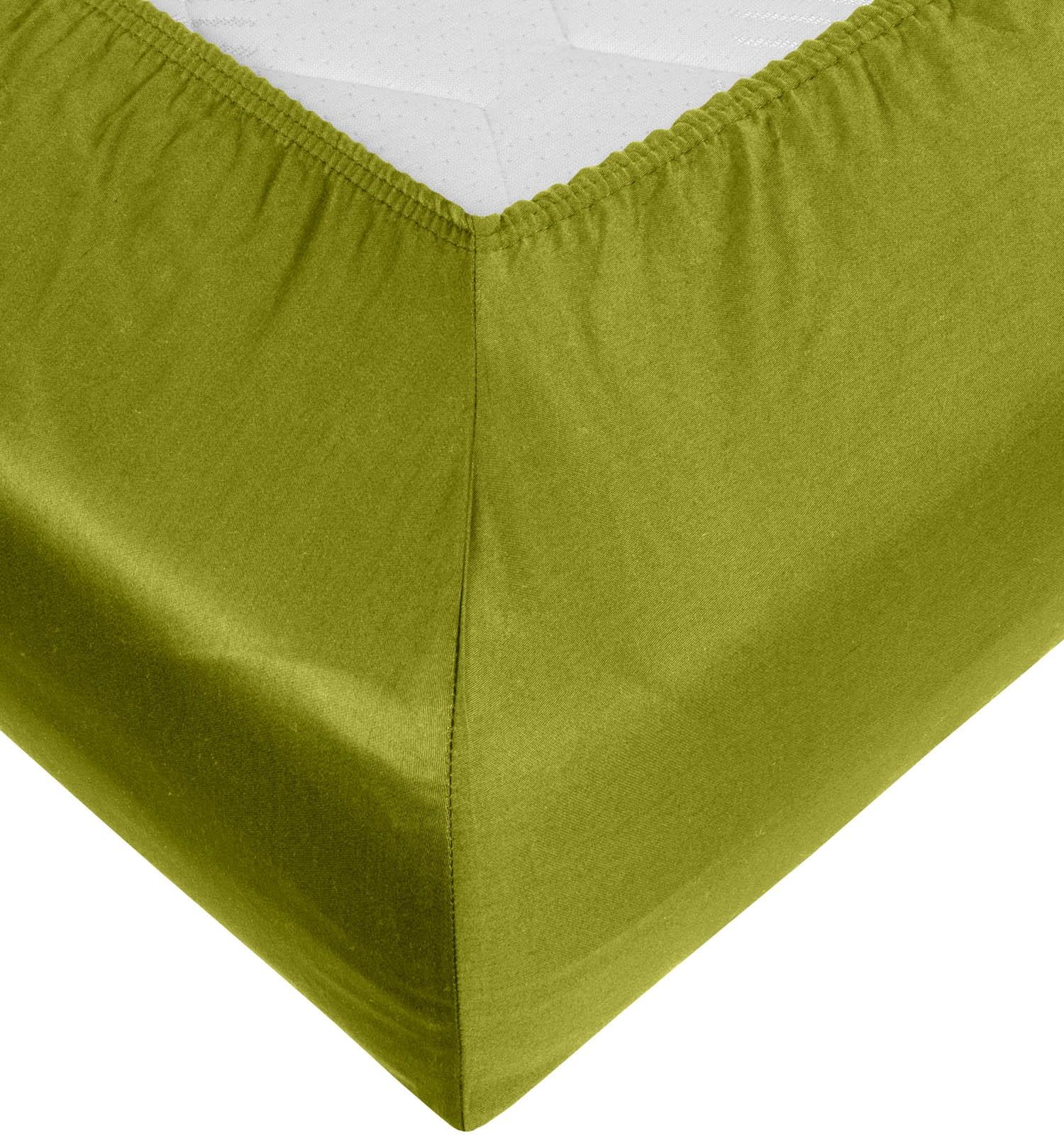 spannbettlaken mako satin gr n jetzt kaufen bms. Black Bedroom Furniture Sets. Home Design Ideas