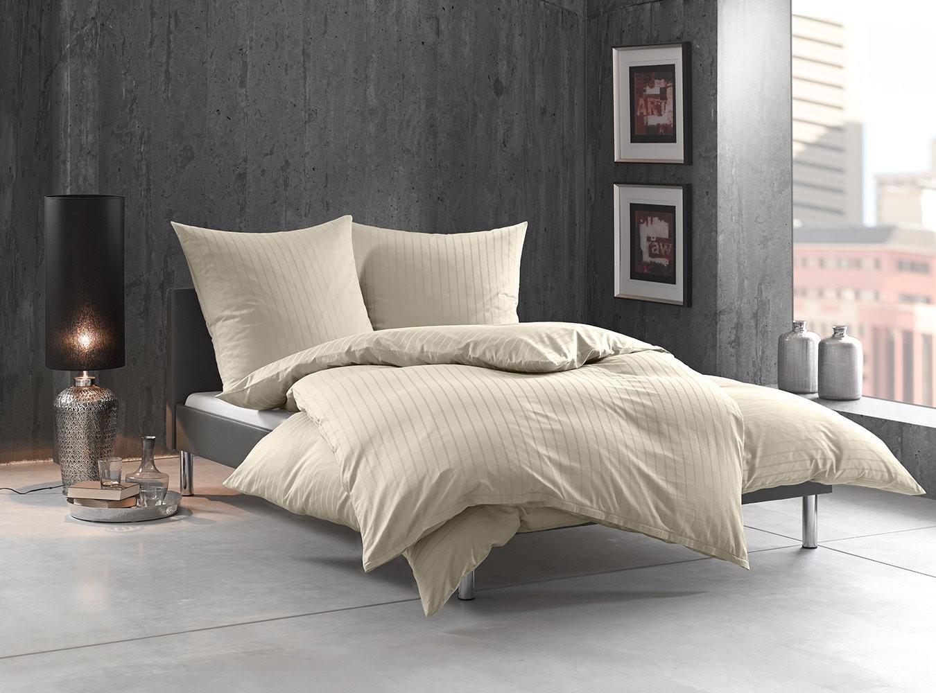 mako satin damast bettw sche gestreift tira natur online. Black Bedroom Furniture Sets. Home Design Ideas