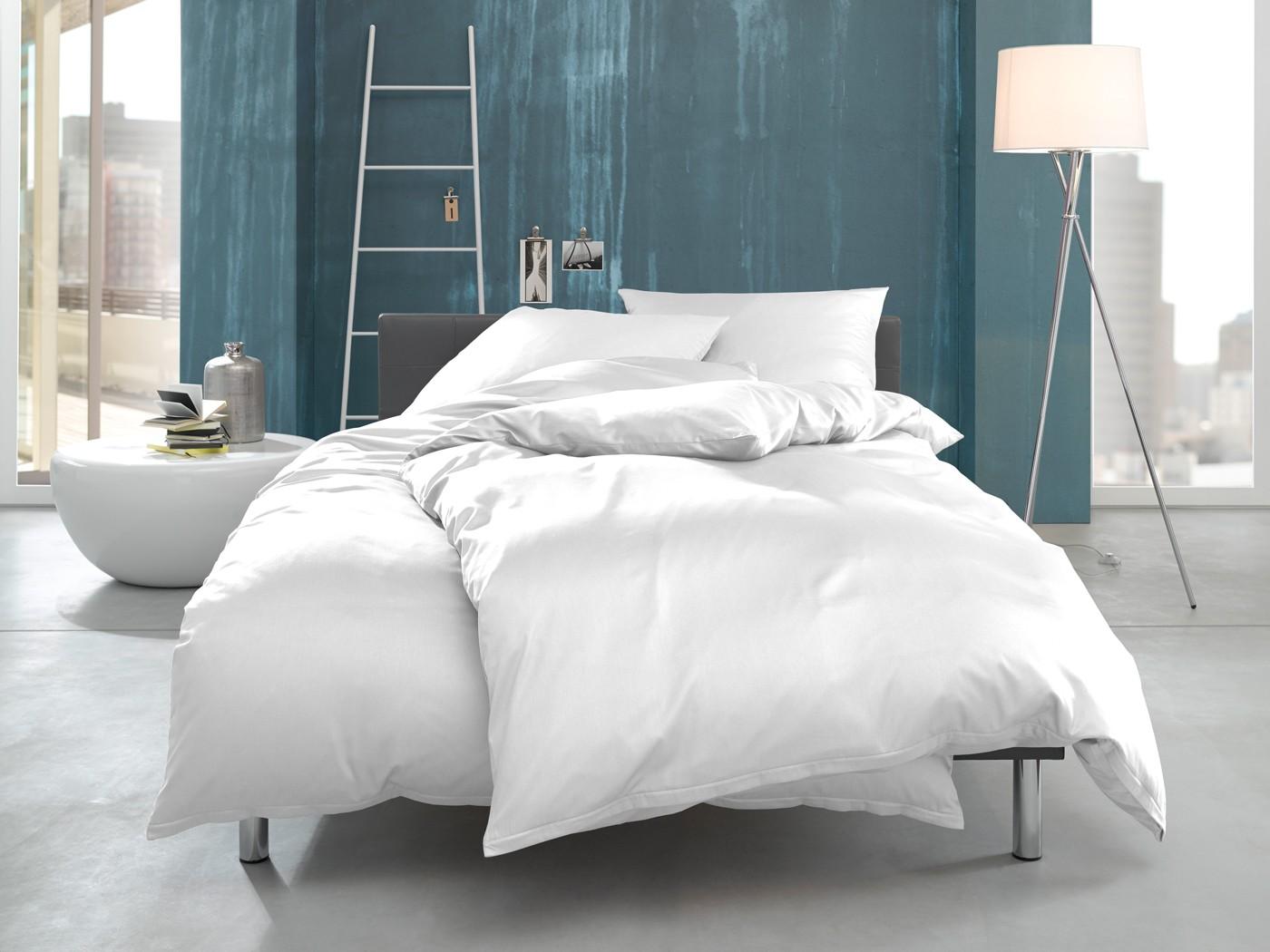 mako interlock jersey bettwäsche einfarbig weiß online kaufen | bms, Hause deko