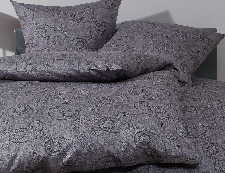 mako satin damast paisley bettw sche 200x220 davos schwarz online kaufen. Black Bedroom Furniture Sets. Home Design Ideas