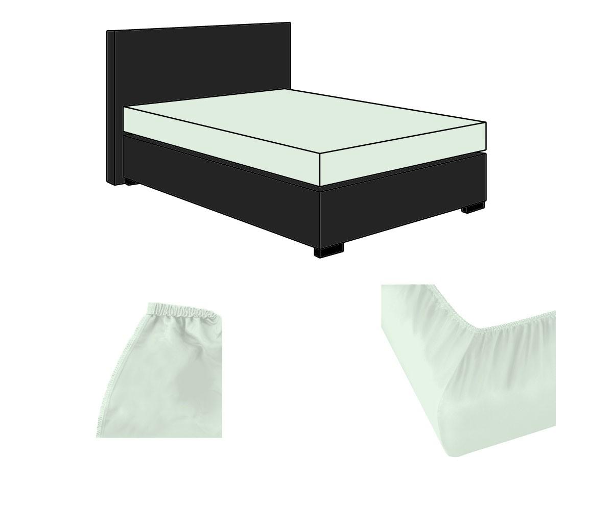 lorena uni spannbettlaken classic icegreen eisgr n online. Black Bedroom Furniture Sets. Home Design Ideas