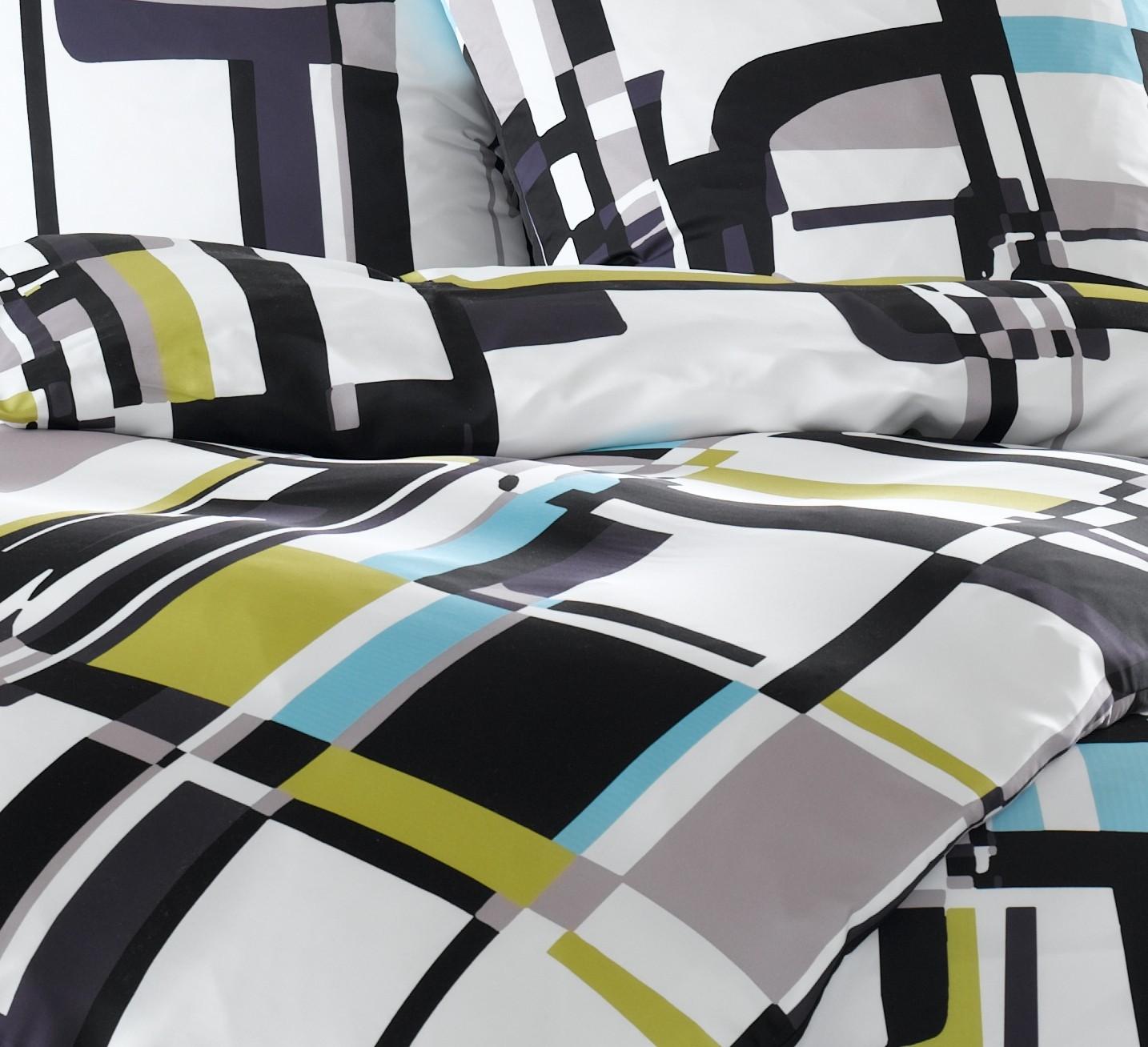 mako satin karo bettw sche modern schwarz wei. Black Bedroom Furniture Sets. Home Design Ideas