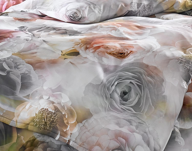 Rosé Grau Weiß: Mako Satin Rosen Bettwäsche Grau Rosé Von Bettwaesche-mit-Stil