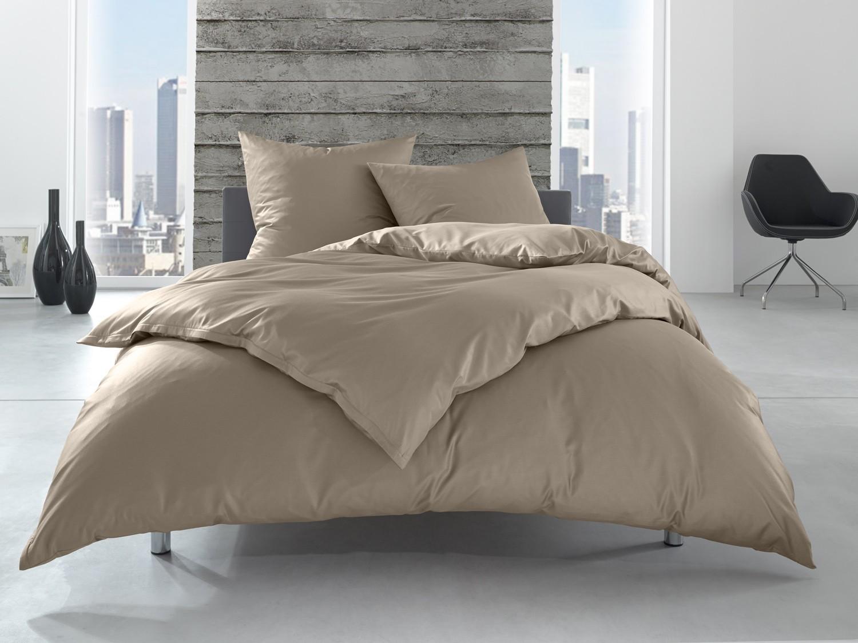 Einfarbige Hotelbettwäsche 155x200 Braun Bettwaesche Mit Stil