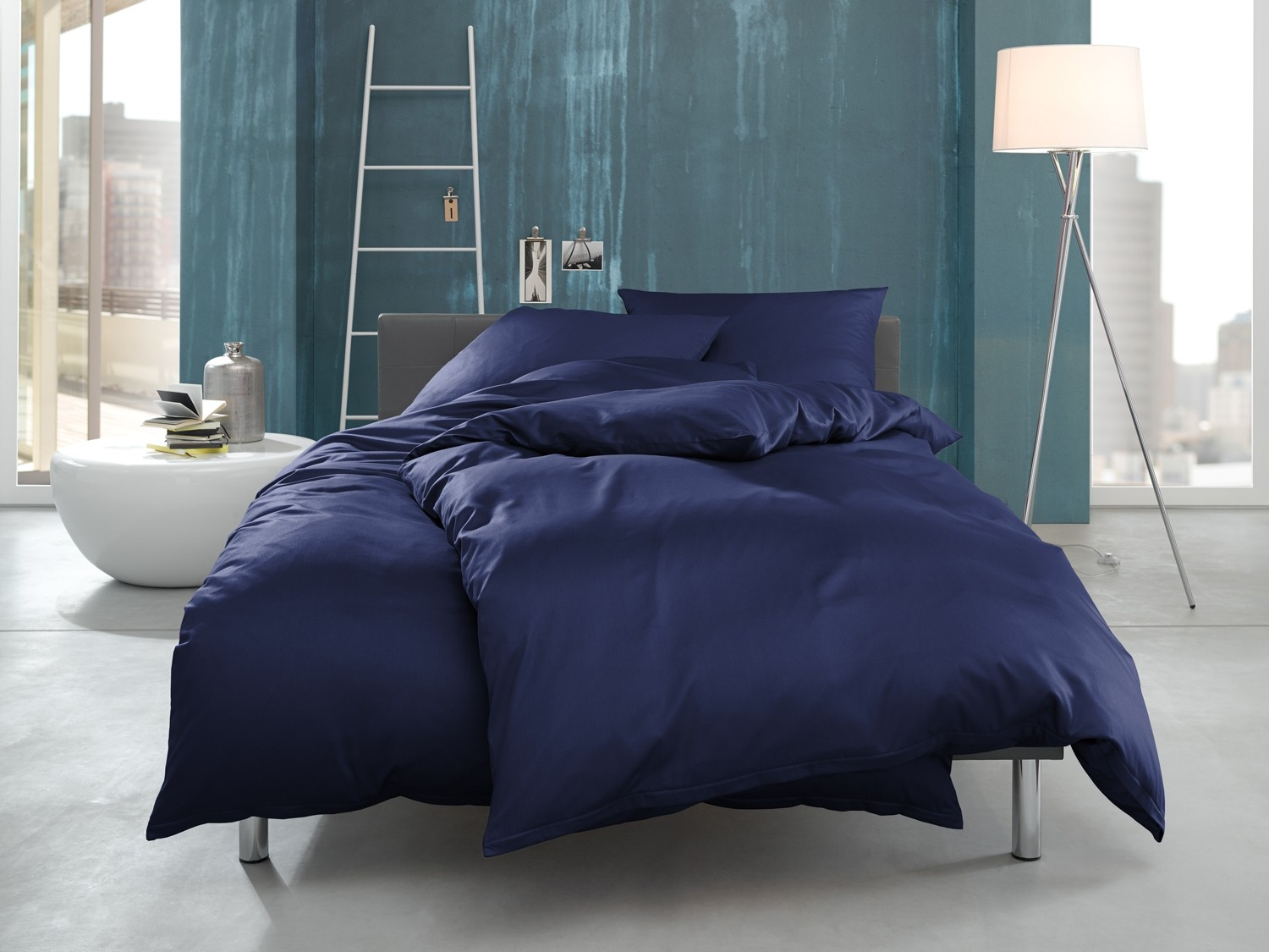 interlock jersey bettw sche blau bettwaesche mit stil. Black Bedroom Furniture Sets. Home Design Ideas
