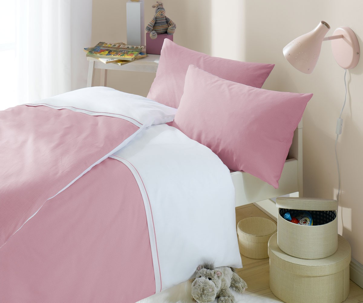 lorena karo kinder bettw sche maxi mako batist rosa online kaufen bms. Black Bedroom Furniture Sets. Home Design Ideas
