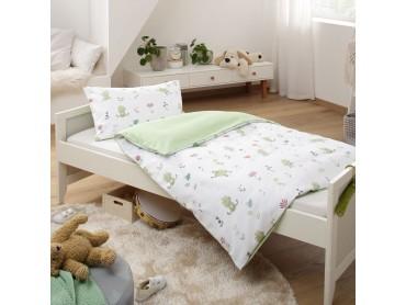 Lorenchen von Lorena Mako-Satin Kinder Bettwäsche Froschkönig