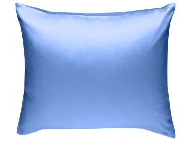 Mako Satin Kissenbezug uni hellblau - viele Größen