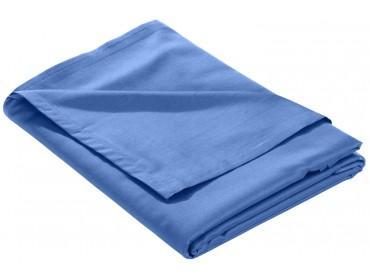 Mako Satin Bettlaken ohne Gummizug hellblau