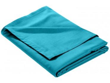 Mako Satin Bettlaken ohne Gummizug türkis