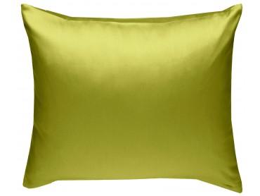Mako Satin Kissenbezug uni grün - viele Größen