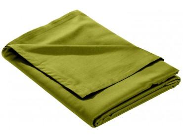 Mako Satin Bettlaken ohne Gummizug grün