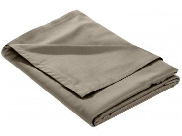 Mako Satin Bettlaken ohne Gummizug braun (taupe)