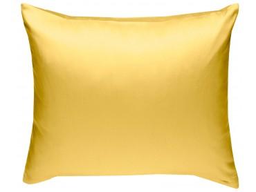 Mako Satin Kissenbezug uni gelb - viele Größen