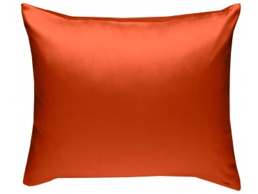 Mako Satin Kissenbezug uni orange - viele Größen
