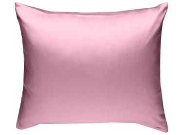 Mako Satin Kissenbezug uni rosa - viele Größen