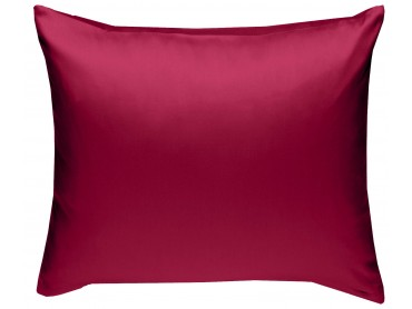 Mako Satin Kissenbezug uni pink - viele Größen