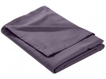 Mako Satin Bettlaken ohne Gummizug lila
