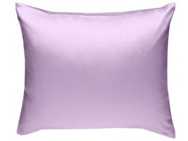 Mako Satin Kissenbezug uni flieder-rosa - viele Größen