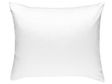 Mako Satin Kissenbezug uni weiß - viele Größen