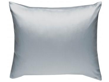 Mako Satin Kissenbezug uni grau - viele Größen