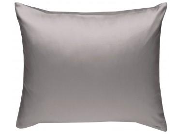 Mako Satin Kissenbezug uni dunkelgrau - viele Größen