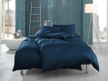 """Mako Interlock Jersey Bettwäsche """"Ina"""" uni / einfarbig royal blau von Bettwaesche-mit-Stil"""