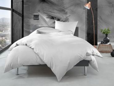 Bettwaesche-mit-Stil Mako Perkal Bettwäsche uni / einfarbig weiß