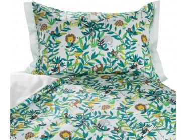 Mako Satin Kinder Bettwäsche Dschungel pastell grün von Bettwaesche-mit-Stil