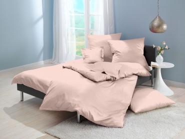 Lorena Mako-Satin uni einfarbige Bettwäsche Classic alabaster