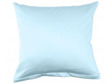 Lorena Mako-Satin uni einfarbiges Kissen Classic hellblau