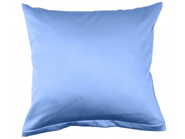 Lorena Mako-Satin einfarbiges Kissen Classic azurblau