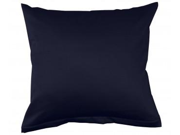 Lorena Mako-Satin uni einfarbiges Kissen Classic midnight-blue