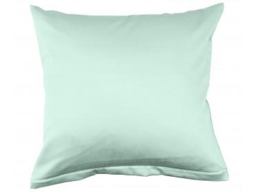 Lorena Mako-Satin uni einfarbiges Kissen Classic icegreen-eisgrün