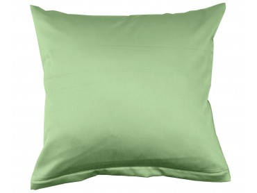Lorena Mako-Satin uni einfarbiges Kissen Classic pistazie-grün