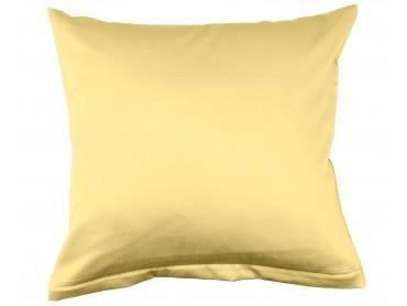 Lorena Mako-Satin uni einfarbiges Kissen Classic gelb