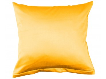 Lorena Mako-Satin uni einfarbiges Kissen Classic mais-gelb
