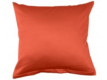 Lorena Mako-Satin uni einfarbiges Kissen Classic orange