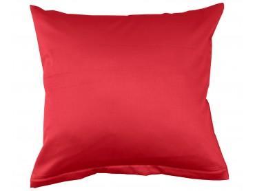Lorena Mako-Satin uni einfarbiges Kissen Classic rot
