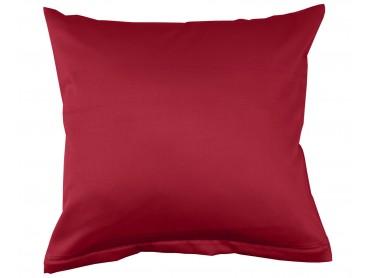 Lorena Mako-Satin einfarbiges Kissen Classic burgund-rot