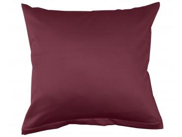 Lorena Mako-Satin uni einfarbiges Kissen Classic rubin-rot