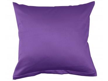 Lorena Mako-Satin einfarbiges Kissen Classic lila