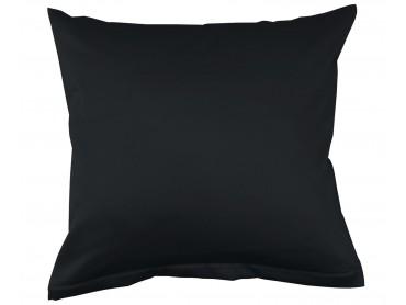 Lorena Mako-Satin einfarbiges Kissen Classic schwarz
