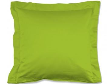 Lorena Mako-Satin einfarbiges Kissen mit Stehsaum Classic apfelgrün