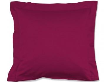 Lorena Mako-Satin einfarbiges Kissen mit Stehsaum Classic cyclam