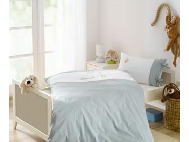 Lorena Mako-Batist Streifen Kinder-Bettwäsche Kroko Grün