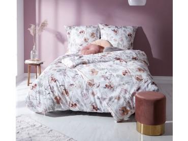 Mako Satin Bettwäsche Mohnblumen rost-rot von Bettwaesche-mit-Stil