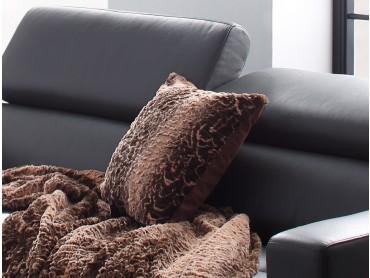 Fellkissen Bezug für Dekokissen / Sofakissen Größe 40x40 / 50x50 cm